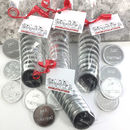 Chocolate Wedding Favours Just Married Silver Coins