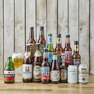 14 Award Winning World Lagers And Tasting Glass Gift - hampers