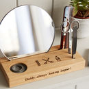 Personalised Grooming Station In Solid Oak
