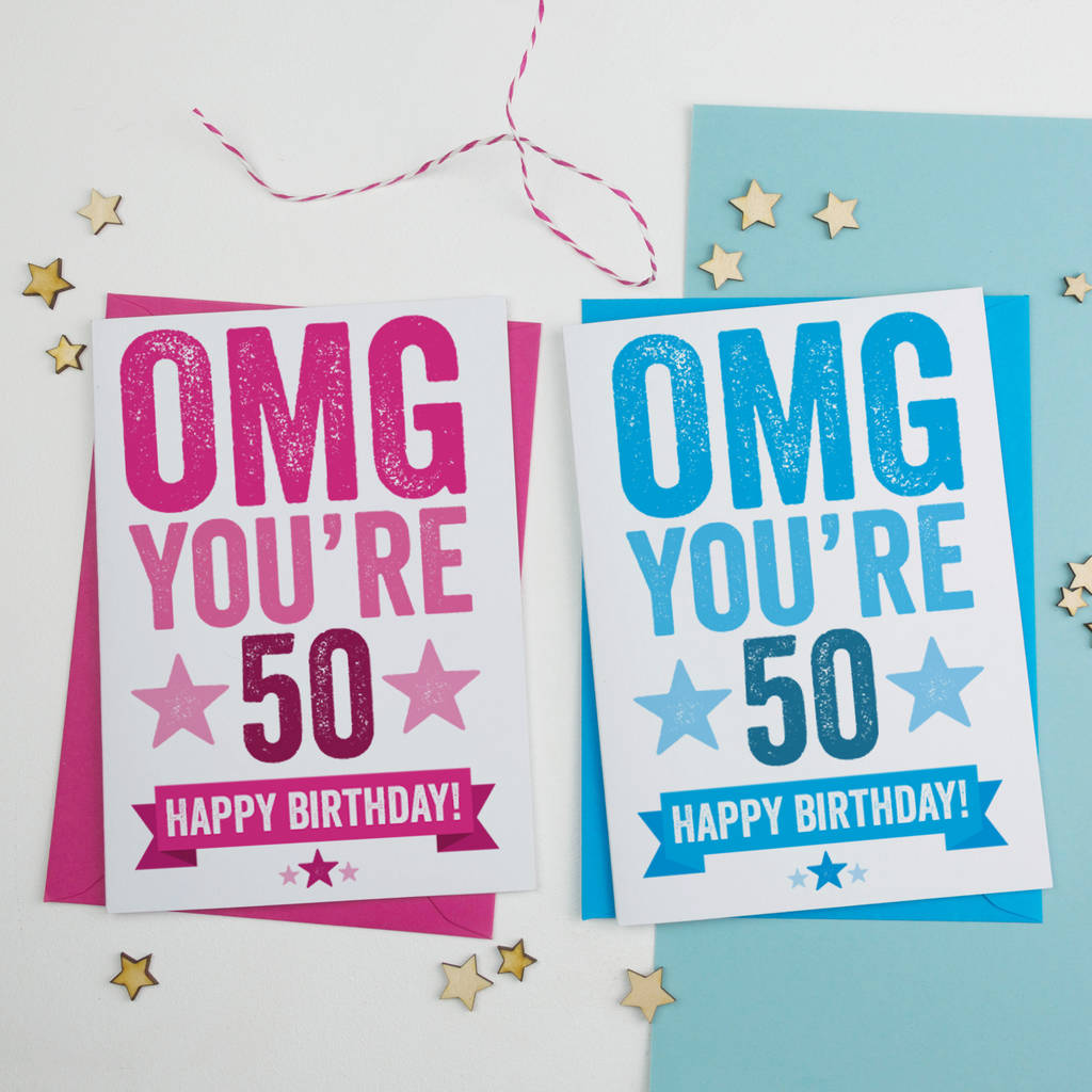 Omg Youre 50 Birthday Card