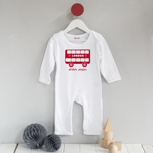 London Bus Romper Suit - clothing