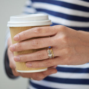 Personalised Stacker Ring - gifts for friends