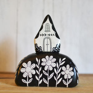 Illustrated Ceramic House On A Hill - home accessories