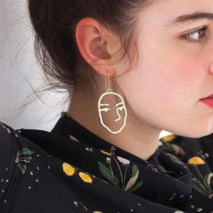 Personalised Abstract Artist Face Earrings