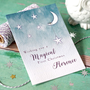 Baby's First Christmas Magical Stars Cards