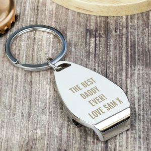 Personalised 'Best Daddy Ever' Bottle Opener Keyring - whatsnew