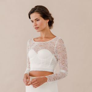 Lace Cover Up With Silk Tie Up Sash - wedding dresses