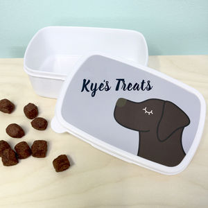 Personalised Dog Treat Box - pet food storage