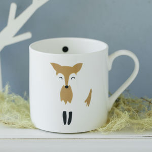 Mr Fox Personalised Hand Decorated China Mugs And Cups