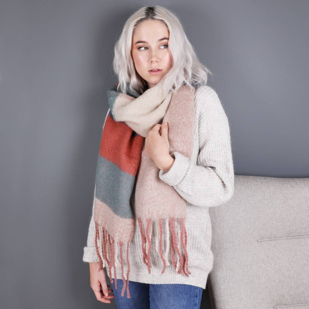 Powder Design Mhari Block Colour Blanket Scarf