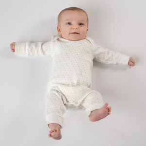 First Kisses Organic Baby Grow - babygrows