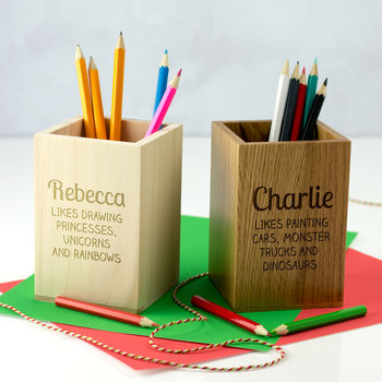 Personalised Childrens Pencil Pot