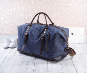 Waxed Canvas Classic Travel Holdall Bag - holdalls & weekend bags