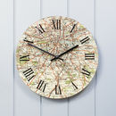 Personalised Map Wall Clock