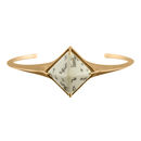 Silver And Gold Vermeil Sami Pyramid Reindeer Bangle