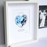 Anniversary Paper Cut Print - anniversary gifts