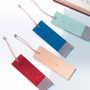 Handmade Leather Personalised Bookmark - desk accessories