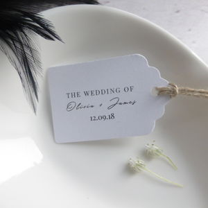 Custom Wedding Favour Tags - tags & labels
