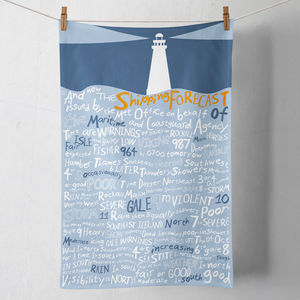 'And Now The Shipping Forecast Issued By…' Tea Towel