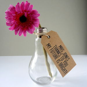 Light Bulb Thank You Teacher Vase - home accessories