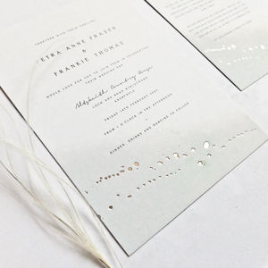 Pale Green And Rose Gold Invitations