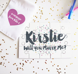 Personalised Message Confetti Jigsaw Puzzle