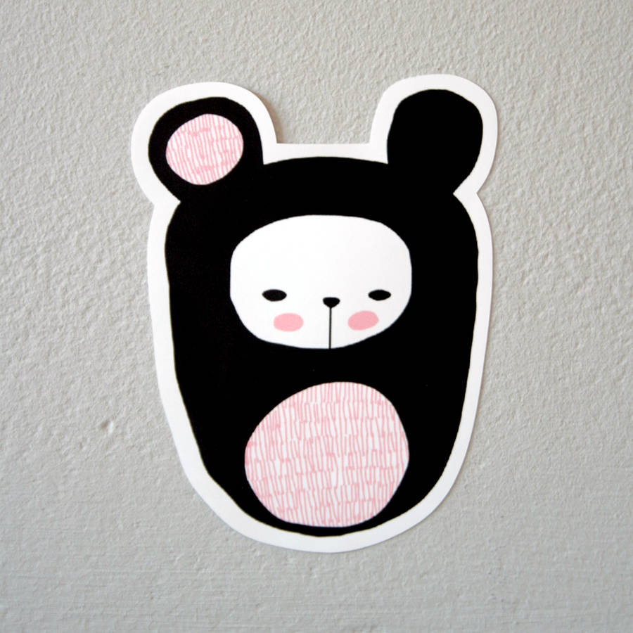 bear vinyl wall sticker by hesperoo notonthehighstreet com snuggly bear wall stickers for kids ethical market