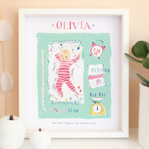 Personalised New Baby Keepsake Print