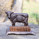 Cast Iron Cow Boot Brush