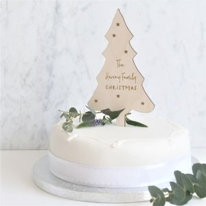 Personalised Family Christmas Tree Cake Topper
