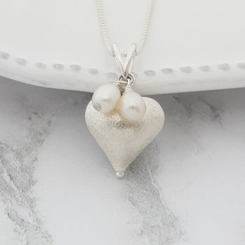 Rosaline Silver Heart Necklace
