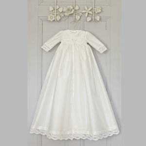 Long Sleeved Christening Gown Ruby - more