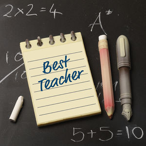 Best Teacher Chocolate Notepad And Pencil
