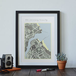 Personalised Family Map Print - new in prints & art