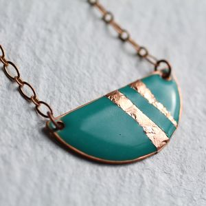 Art Deco Enamel Necklace - necklaces & pendants