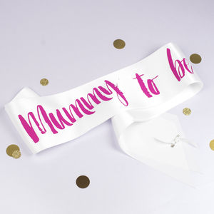 Contemporary Mummy To Be Sash