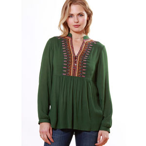 Mother Earth Embroidered Blouse - women's fashion