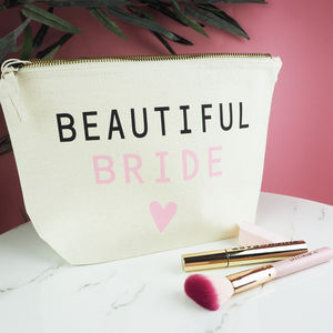 The 'Beautiful Bride' Make Up Bag - summer sale