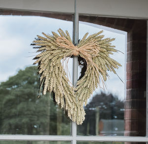 Natural Heart Wheat Wreath - wreaths