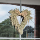 Natural Heart Wheat Wreath