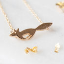 Gold Solid Fox Necklace