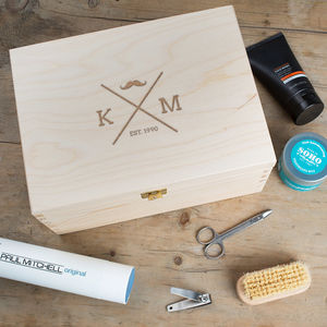 Personalised Male Grooming Box