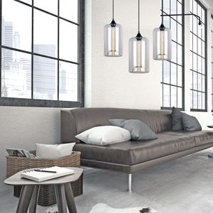 Art Deco Glass Pendant Lights - office & study