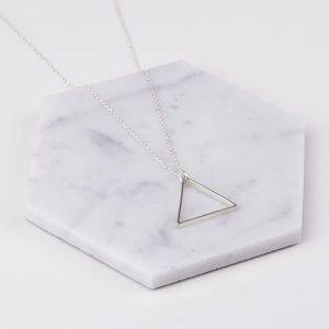Large Single Triangle Necklace