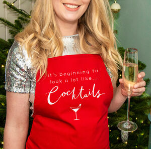 'Looks Like Cocktails' Christmas Apron