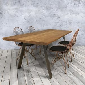 A Shaped Legs Dining Table - dining tables