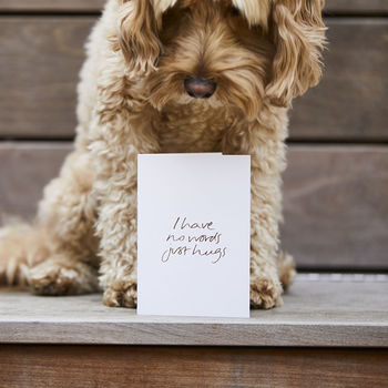 'I Have No Words Just Hugs' Sympathy Card