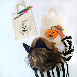 Colour In Trick Or Treat Bag