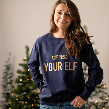 Express Your Elf Christmas Jumper