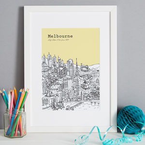 Personalised Melbourne Print - architecture & buildings